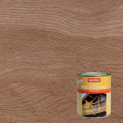 Vernice per legno da esterno liquido SYNTILOR 0.25 L noce medio lucido