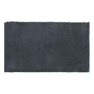 Tappeto bagno rettangolare Bubble in 100% cotone nero 80 x 50 cm