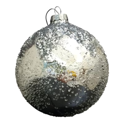Sfera natalizia in vetro Ø 10 cm