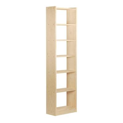 Scaffale in legno in kit Gala 7 ripiani L 50 x P 25 x H 216.7 cm naturale