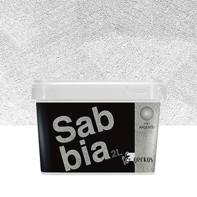 Pittura decorativa Sabbiato 2 l grigio effetto sabbiato