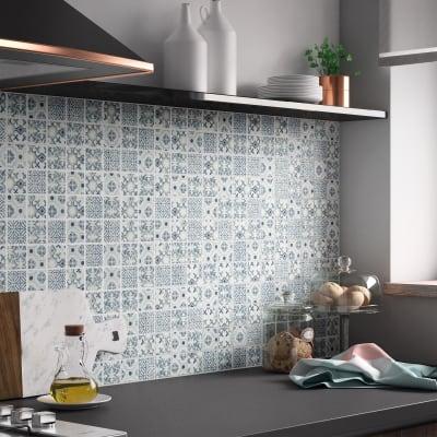 Mosaico Graphik Cement H 30 x L 30 cm blu
