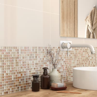 Mosaico Tonic Ivory H 30 x L 30 cm bianco