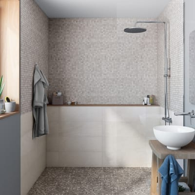 Mosaico Mineral Cottage H 30 x L 30 cm grigio/argento