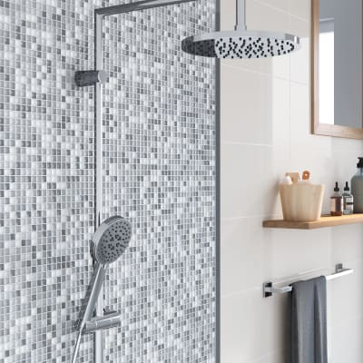 Mosaico Tonic Grey H 30 x L 30 cm grigio/argento