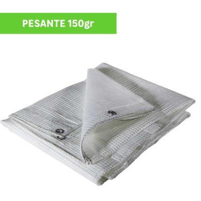 Telo protettivo in polietilene occhiellato retinato L 6 m x H 400 cm 150 g/m²