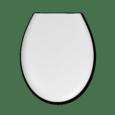 Copriwater ovale Universale Essential SENSEA plastica termoflessibile bianco