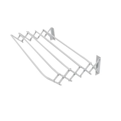 Stendibiancheria con fili estensibili da fissare a muro bianco
