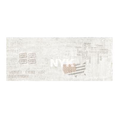Piastrella per rivestimenti Level 20 x 50 cm sp. 0.8 mm bianco
