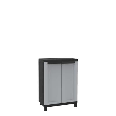 Armadio Twist Black L 68 x P 39 x H 91.5 cm grigio e nero