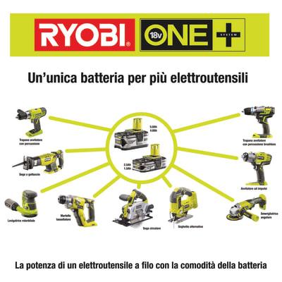 Batteria RYOBI RB18L40 in litio 18 V 4 Ah