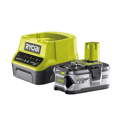 Set caricabatteria RYOBI RC18120-140 in litio (li-ion) 18 V 4 Ah
