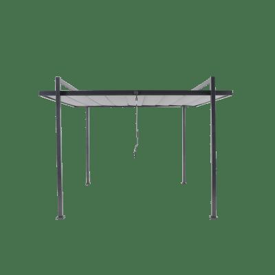 Pergola alluminio Elysia grigio scuro L 308 cm x P 350 cm, H 2.57 m