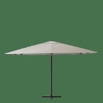 Ombrellone NATERIAL Aura L 2.86 x P 2.86 m color tortora