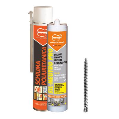 Silicone Kit serramenti bianco 500 ml