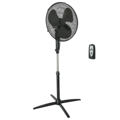 Ventilatore a piantana EQUATION nero 45 W Ø 40 cm