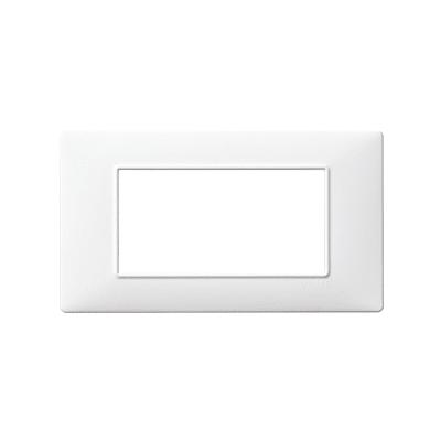 Placca Plana VIMAR 4 moduli bianco