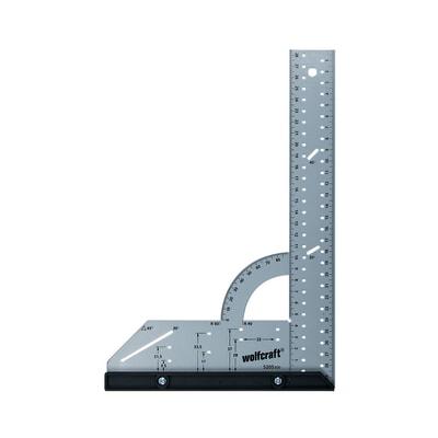 Falsa squadra WOLFCRAFT in acciaio 30.0 x 20.0 cm