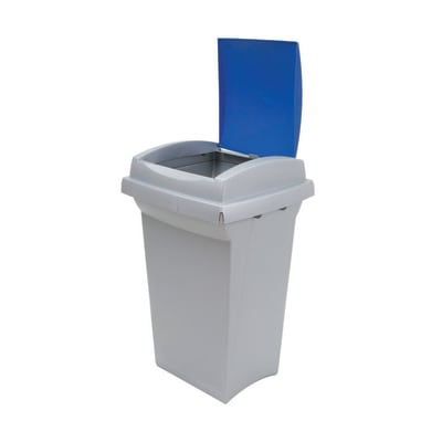 Pattumiera Recycling  manuale blu 50 L