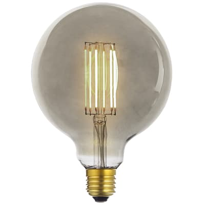 Lampadina decorativa LED, Globo, E27, Globo, Ambra, Luce calda, 6W=400LM (equiv 28 W), 360°