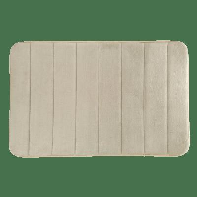 Tappeto antiscivolo rettangolare Cocoon in 100% poliestere beige 80 x 50 cm