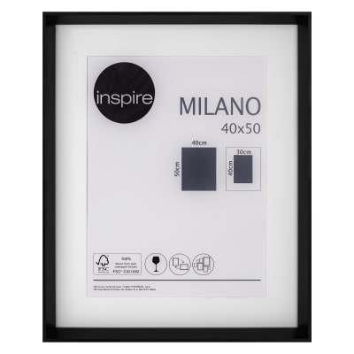 Cornice con passe-partout Inspire milano nero 40x50 cm