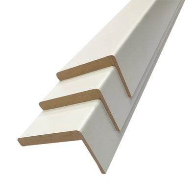 Kit coprifilo in mdf melaminico bianco L 225 x P 10 x H 50 mm