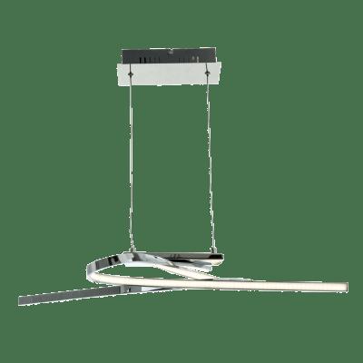 Lampadario Moderno Symphonie LED integrato cromo, in alluminio, D. 26 cm, L. 69 cm, 2 luci, EGLO