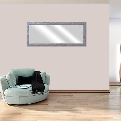 Specchio a parete rettangolare Glitterata argento 42x132 cm