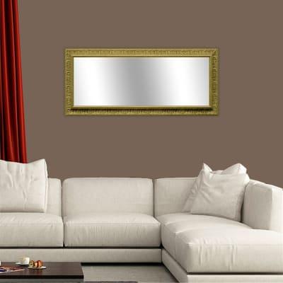 Specchio a parete rettangolare Venere oro 67x167 cm