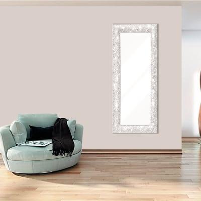 Specchio a parete rettangolare Glitterata bianco 62x162 cm