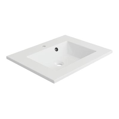 Lavabo per mobili rettangolare in resina L 61 x P 48.5 x H 11.2 cm bianco