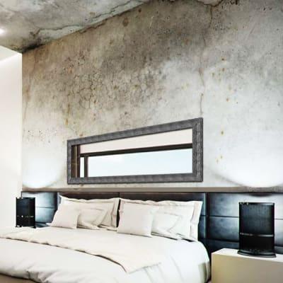 Specchio a parete rettangolare Osaka grafite 55x155 cm