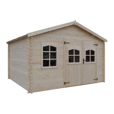 Casetta da giardino in legno Galati,  superficie interna 14 m² e spessore parete 28 mm