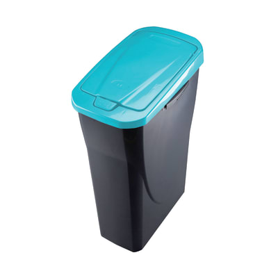 Pattumiera Ecobin manuale grigio/blu 15 L