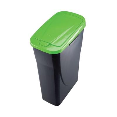Pattumiera Ecobin manuale grigio/verde 15 L