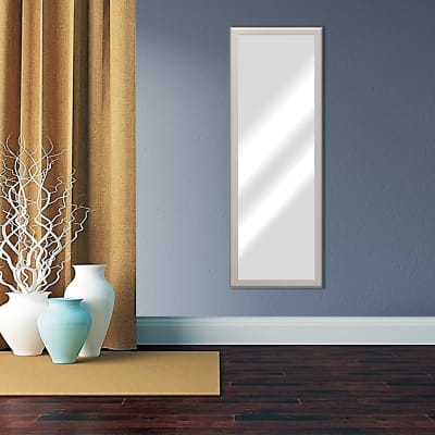 Specchio a parete rettangolare Mia tortora 40x140 cm