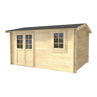 Casetta da giardino in legno Giusy,  superficie interna 10.71 m² e spessore parete 45 mm