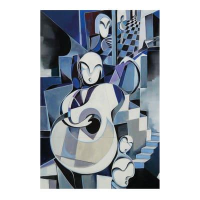 Quadro su tela Musicans 60x90 cm