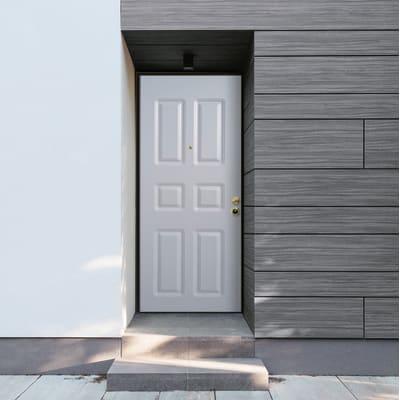 Porta blindata Steel bianco L 80 x H 210 cm sinistra