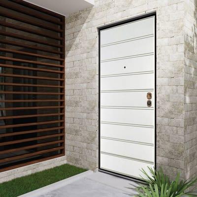 Porta blindata Outdoor bianco L 90 x H 200 cm sinistra
