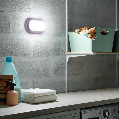 Applique Ezy LED integrato in plastica, nero, 15W 1500LM IP65 INSPIRE