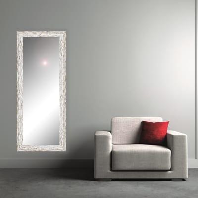 Specchio a parete rettangolare Gaia bianco 60x170 cm