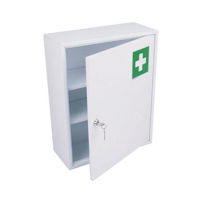 Armadietto farmacia da bagno in acciaio 360 x 450 x 150 cm bianco