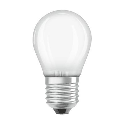 Lampadina LED filamento, E27, Sferico, Opaco, Luce calda, 4W=470LM (equiv 40 W), 300° , OSRAM