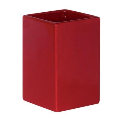 Bicchiere porta spazzolini Color in ceramica rosso