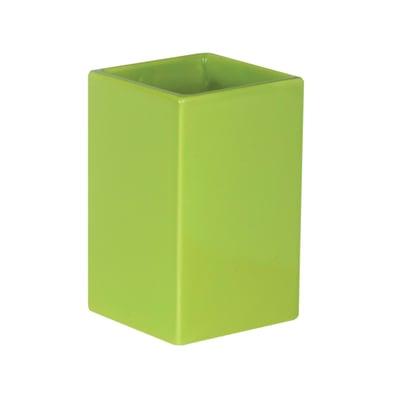 Bicchiere porta spazzolini Color in ceramica verde