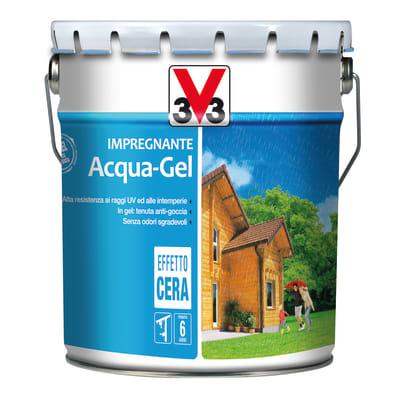 Impregnante a base acqua V33 protettivo completo per legno acqua gel noce medio 10 L