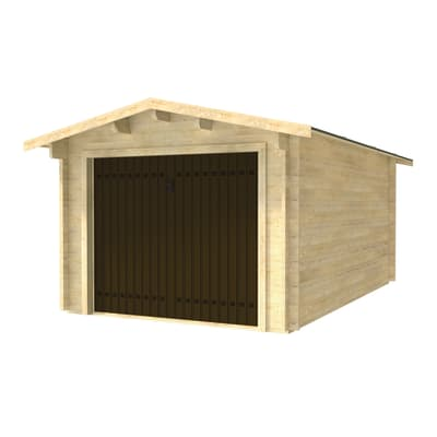Garage in legno Garage Singolo con Basculante 15 m², Sp 45 mm