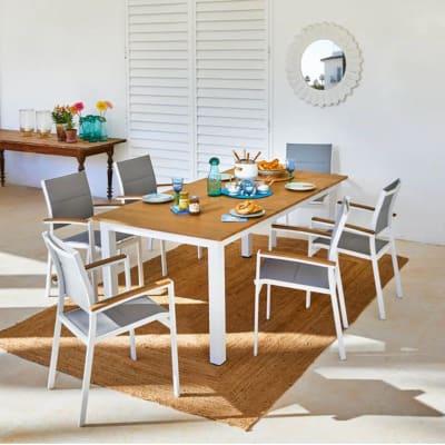 Tavoli E Sedie Giardino Leroy Merlin.Set Tavolo E Sedie San Diego In Alluminio Bianco 6 Posti Prezzi E